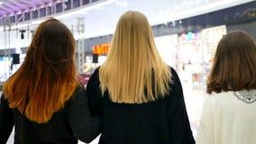 Einkaufsverkäufe der Freunde stock video footage