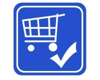 Einkaufswagen überprüft lizenzfreies stockfoto