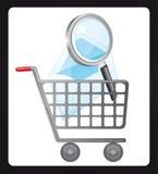 Einkaufswagen vektor abbildung
