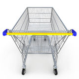 Einkaufswagen 3d auf weißem Hintergrund Lizenzfreie Stockfotos