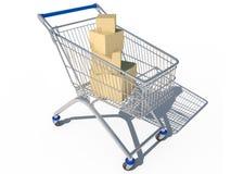 Einkaufswagen 3d CG stock abbildung