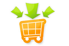 Einkaufswagen. A trolley icon made in photoshop. It can be used as a icon on websites or e-stores Royalty Free Stock Photography