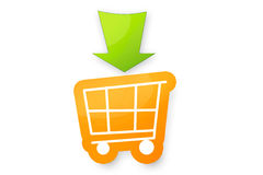 Einkaufswagen. A trolley icon made in photoshop. It can be used as a icon on websites or e-stores Stock Photos