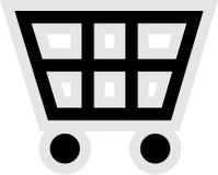 Einkaufswagen-Ikone vektor abbildung