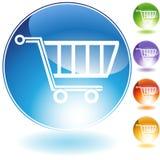 Einkaufswagen-Ikone Stockfoto