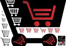 Einkaufswagen-Ikonen Lizenzfreies Stockbild