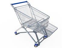 Einkaufswagen leeres 3d CG lizenzfreie abbildung