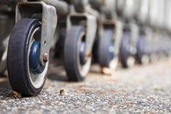 Einkaufswagen-Räder Lizenzfreie Stockfotos