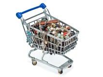 Einkaufswagen voll der Kostümschmucksachen Lizenzfreies Stockfoto
