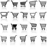 Einkaufswagen-Zeichen Stockfotos