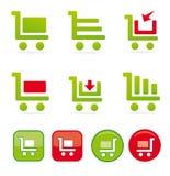 Einkaufswagenikonen Stockbilder