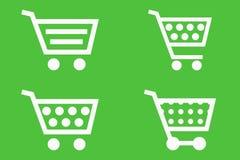 Einkaufswagenikonen stock abbildung
