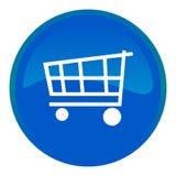 Einkaufswagenweb-Taste Lizenzfreies Stockfoto