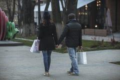 Einkaufszeit auf guten Rutsch ins Neue Jahr ` s Eve Day Stockfotografie