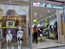 Einkaufszentrum Euroma 2 in Rom stockbilder