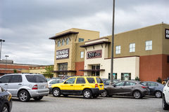 Einkaufszentrum-Parkplatz Stockbild