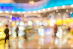 Einkaufszentrum unscharfer Hintergrund Lizenzfreies Stockfoto