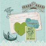 Einklebebuch-Auslegungs-Elemente - Venedig-Weinlese-Set Lizenzfreies Stockbild
