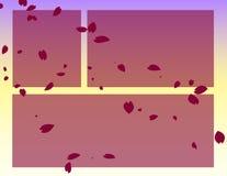 Einklebebuch-c4seitenformat - Blumenblätter Stockfotos