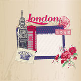 London-Weinlese-Karte Lizenzfreie Stockfotos