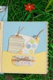 Einklebebuch für die Jungen handgemacht Stockfotografie