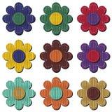 Einklebebuchblume auf weißem Hintergrund Lizenzfreies Stockfoto
