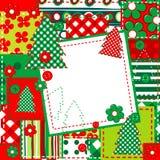 Einklebebuchhintergrund für Weihnachten stock abbildung