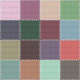 Einklebebuchhintergrund mit verschiedenen Mustern Lizenzfreie Stockbilder