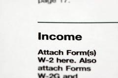 Einkommen Stockbild
