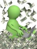 Einkommen im Internet lizenzfreie abbildung