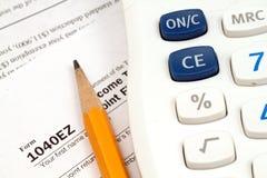 Einkommenssteuer-Form Lizenzfreies Stockbild