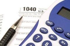 Einkommenssteuer-Form Stockfoto