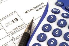 Einkommenssteuer-Form Stockfotografie