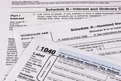Einkommenssteuererklärung Lizenzfreie Stockfotos