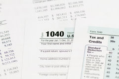 Einkommenssteuerform 1040 Lizenzfreies Stockfoto