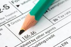 Einkommenssteuerform Lizenzfreies Stockbild
