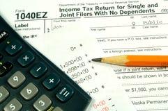 Einkommenssteuern stockbild