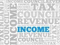 Einkommenssteuerzusammenfassung Stockbilder
