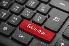 Einkommenswort auf rotem Tastaturknopf Stockbilder