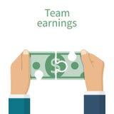 Einkommenteamkonzept stock abbildung