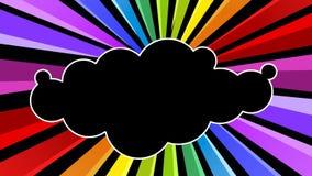 Einkreisende Regenbogen-Wolken-Nachtparteianimation stock video