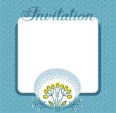 Einladung, Blume und Beeren, dunkelblau, Vektor Stockfotografie