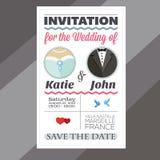 Einladung der Hochzeit vektor abbildung