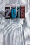 Einladung des neuen Jahres 2015 Stockfoto