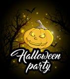 Einladung an eine Halloween-Party Lizenzfreie Stockfotos