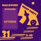 Einladung an eine Halloween-Party Lizenzfreies Stockfoto