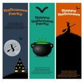Einladung an eine Halloween-Party Stockbild
