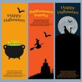 Einladung an eine Halloween-Party Stockbilder