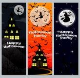 Einladung an eine Halloween-Party Vertikale Fahne Stockfotografie