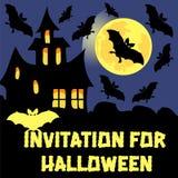 Einladung für Halloween-Parteivektorkarte stock abbildung